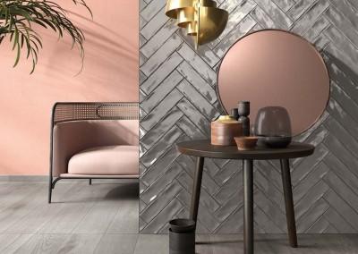 א.א קרמיקה   Crossroad Brick Grey   Crossroad Wood Grey 20x120
