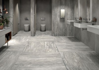 א.א קרמיקה | Smoke 120x240, 120x120 | Concrea Grey 120x240