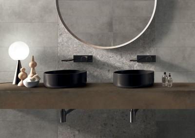 א.א קרמיקה | Stone 30x120 | Copper 120x270 | Futura Cenere 60x120