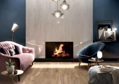 א.א קרמיקה | Oak 20x120 | Horizon White Lux+ 120x240