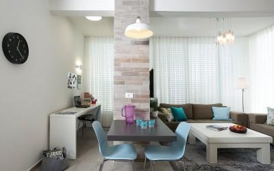 קפיצת גדילה – כיצד הפכה דירת שני חדרים לדירת שלושה חדרים וסלון